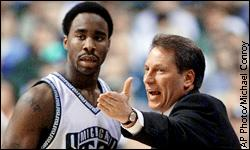 Tom Izzo and Mateen Cleaves