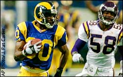 Isaac Bruce and Ed McDaniel